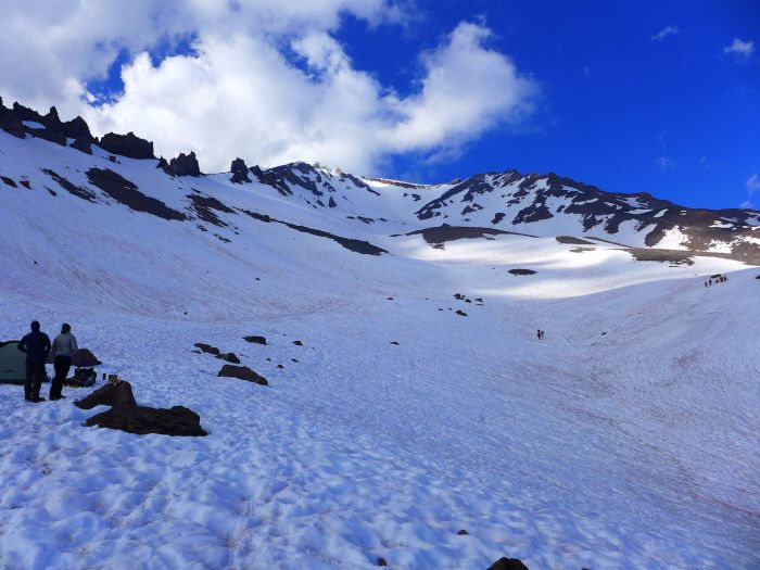 Mount Shasta - Avalanche Gulch - View on Helen Lake